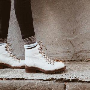 Frye Shoes Off White Alta Hiker Boot Poshmark